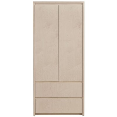 Thompson Armoire Wood Veneer: Painted Eco-MDF, Finish: Grey