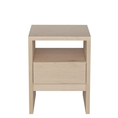 Thompson End Table Finish: Black, Wood Veneer: Painted Eco-MDF