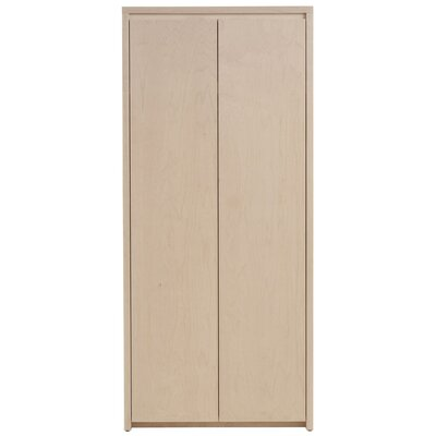 Thompson Armoire Wood Veneer: Painted Eco-MDF, Finish: Red