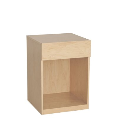 Kasie 1 Drawer Nightstand Wood Veneer: Cherry, Color: Clear