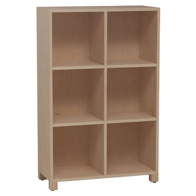 "Media Multimedia LP Record 43"" Cube Unit Bookcase Finish: Green, Wood Veneer: Painted Eco-MDF"