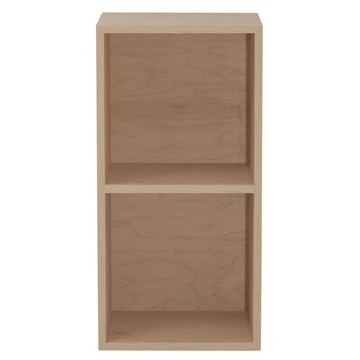 "Media Double Multimedia Record 30"" Standard Bookcase Finish: Toffee, Wood Veneer: Walnut"