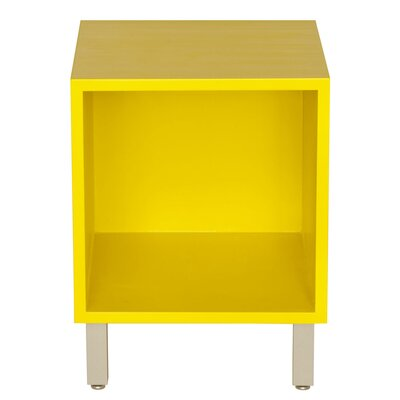 Multimedia Cube Wood Veneer: Painted Eco-MDF, Color: Yellow