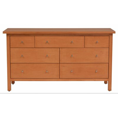 Hudson 7 Drawer Dresser Wood Veneer: Maple, Color: Amber