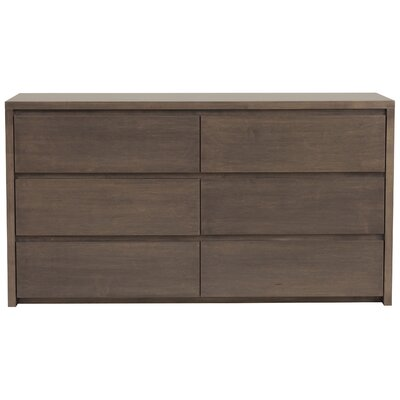 Thompson 6 Drawer Dresser Color: Toffee, Wood Veneer: Walnut