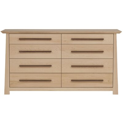 Hamilton 8 Drawer Dresser Color: Clear, Wood Veneer: Maple