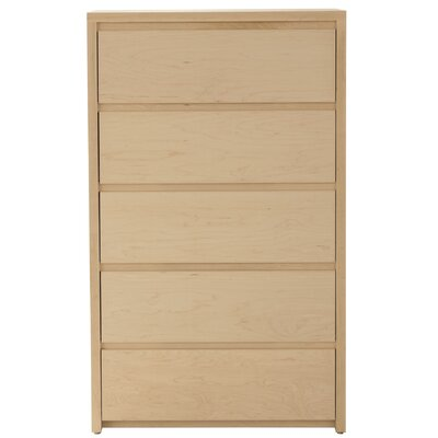 Thompson 5 Drawer Chest Wood Veneer: Maple, Color: Clear