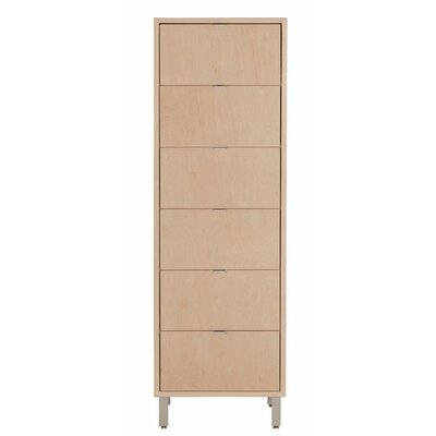 High Line 6 Drawer Lingerie Chest Color: White, Wood Veneer: Painted Eco-MDF