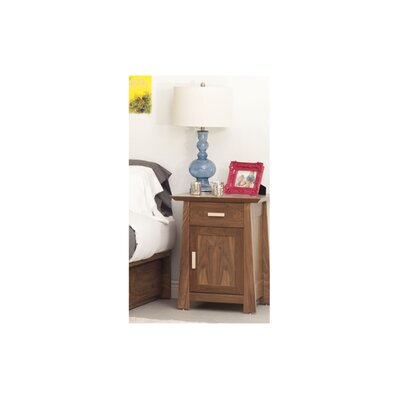 Hamilton 1 Drawer Nightstand Wood Veneer: Cherry, Color: Autumn