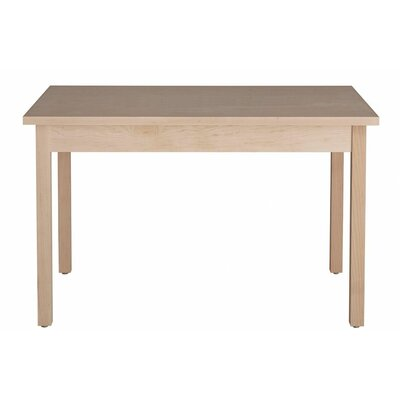 Hudson Dining Table Wood Veneer: Painted Eco-MDF, Finish: White