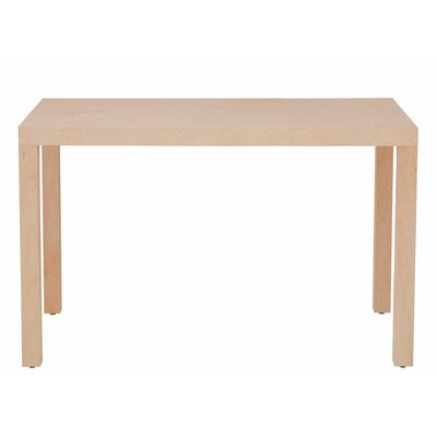 Parsons Dining Table Wood Veneer: Painted Eco-MDF, Finish: Red