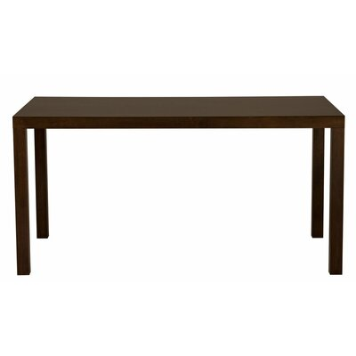 Parsons Dining Table Wood Veneer: Walnut, Finish: Clear