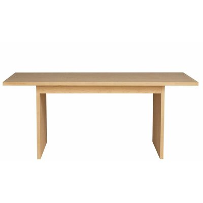Thompson Dining Table Wood Veneer: Walnut, Finish: Bleached