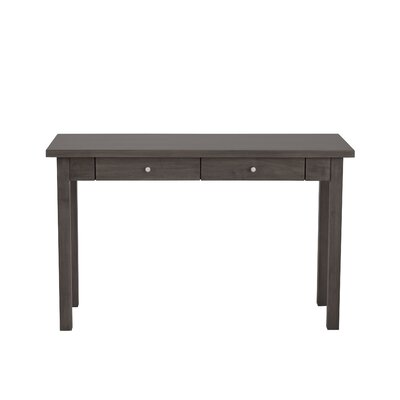 Hudson Console Table Finish: Clear, Wood Veneer: Walnut