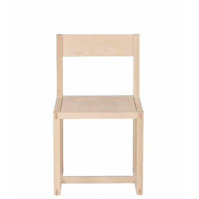 Urban Basics Solid Wood Dining Chair Wood Veneer: Maple, Finish: Clear