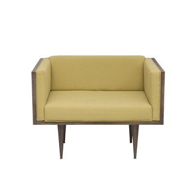 Midcentury Chair Upholstery Color: Clear, Color: Walnut