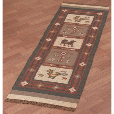 Hacienda Red Area Rug Rug Size: 12 x 18