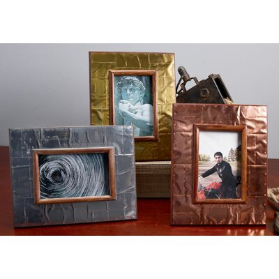 3 Piece Industrial Metal Picture Frame Set