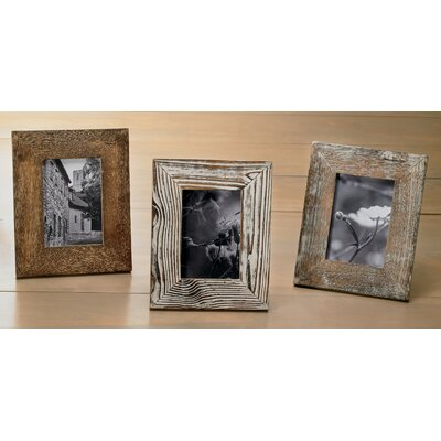 3 Piece Distressed Wood Picture Frame Set