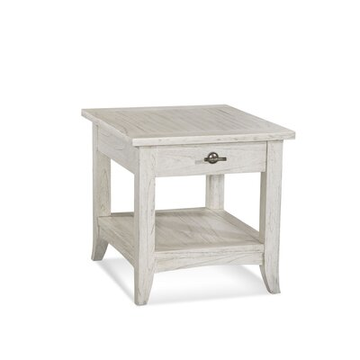 Fairwind End Table with Storage Color: Polished Nickel
