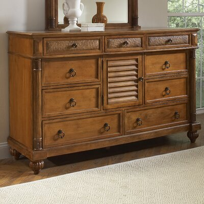 Island Manor 9 Drawer Combo Dresser with Mirror