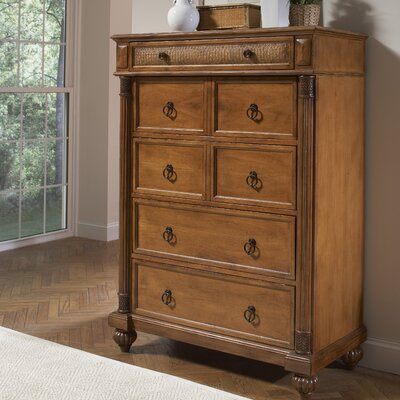 Island Manor 7 Drawer Double Dresser with Mirror