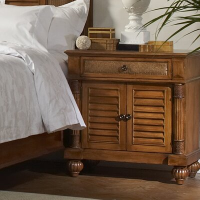 Island Manor 1 Drawer Nightstand Color: Black