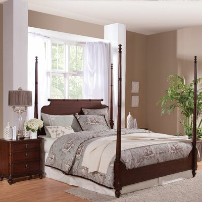 Woodhaven Four Poster Bed Color: Cottage White, Size: King