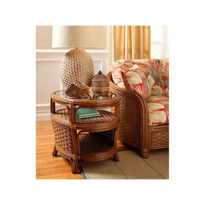 Somerset Oval End Table Color: Java