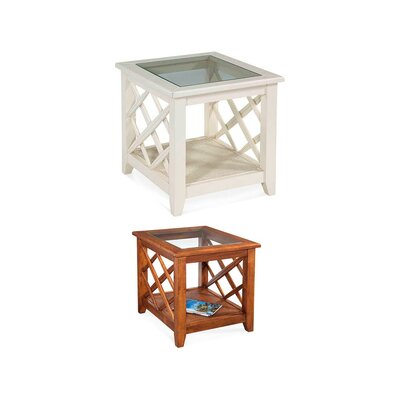 Cross Roads End Table Color: Driftwood
