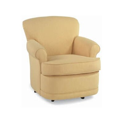 Swivel Armchair Upholstery: White Textured Plain; 0863-93