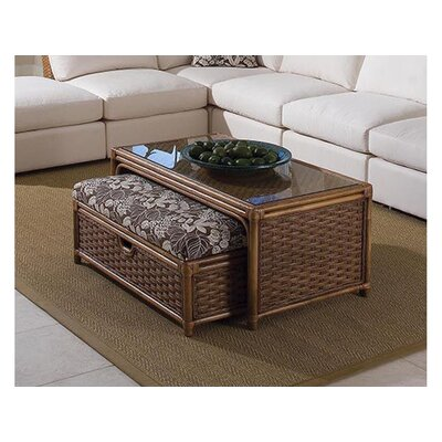 Grand Water Point Coffee Table with Bench Color: 0201-64/Honey