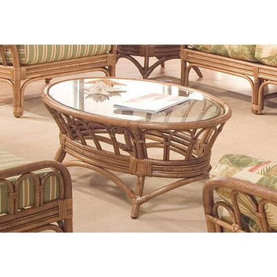 Moss Landing Oval Coffee Table Color: Natural
