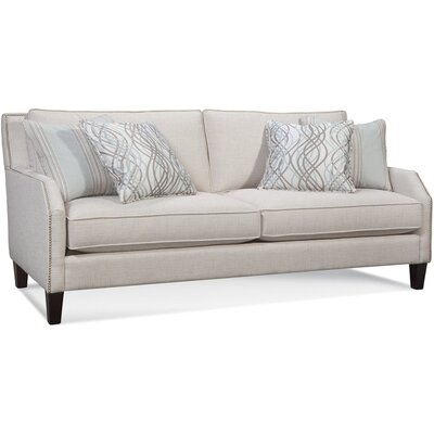 Sofa with Nailhead Upholstery: 0863-91/Bisque
