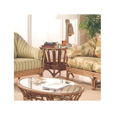 Moss Landing Round End Table Color: Java