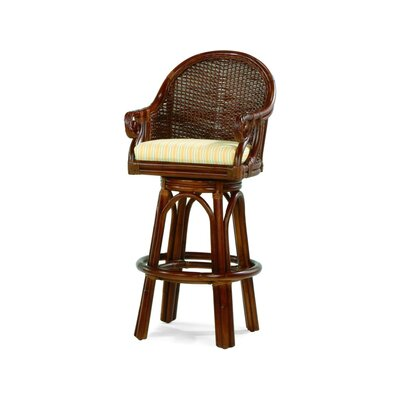 Empress 47 Swivel Bar Stool Upholstery: 0863-93/Honey