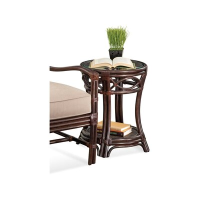 Manchester Round End Table Color: Black