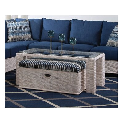 Bali Coffee Table with Bench Color: 0201-64/Driftwood