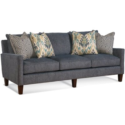 Three Cushion Sofa Upholstery: 0358-88/Black