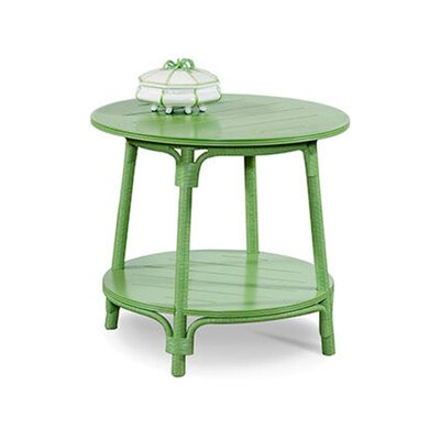 Campobella Isle Round End Table Color: Java