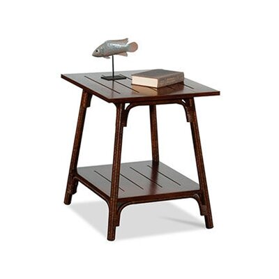 Campobella Isle Rectangular End Table Color: Vintage