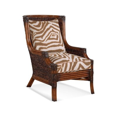 Coconut Grove Wingback Chair Upholstery: Blue Stripe; 0201-64