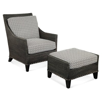 Armchair Upholstery: Gray and Black Textured Plain; 0358-88