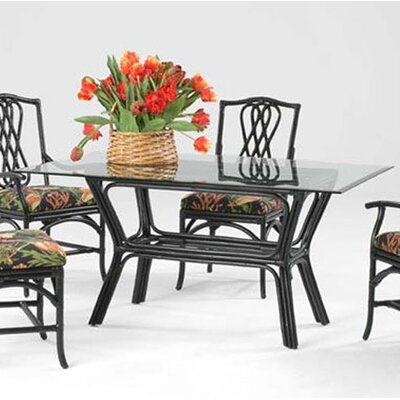 Trellis Dining Table Color: Black