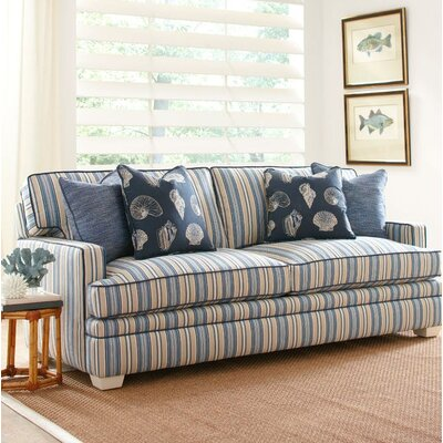 Kensington Sofa Upholstery: Green and Blue Stripe; 0216-53