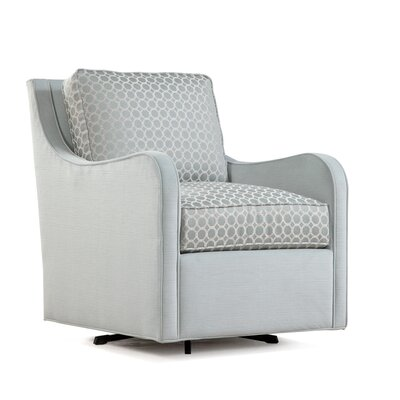 Koko Swivel Armchair Upholstery: Green and Blue Chevron; 0307-54