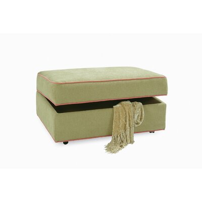 Storage Ottoman with Casters Upholstery: Green and Blue Textured Plain; 0863-53