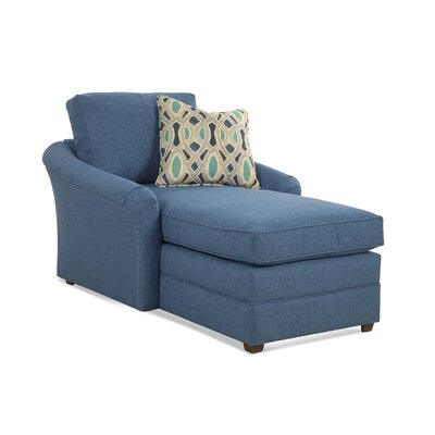 Full Chaise Lounge Upholstery: Gray and Blue Stripe; 0216-63