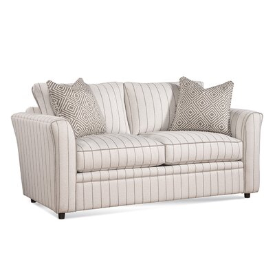 Northfield Loveseat Upholstery: White and Ivory Textured Plain; 0377-93