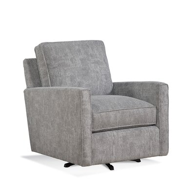 Nicklaus Swivel Armchair Upholstery: Gray and Black Textured Plain; 0805-83